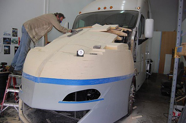 SuperTruck prepping for fiberglass -1129