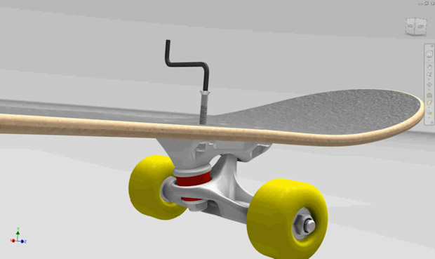 Tork Trux skateboard parts designed in Autodesk products -004-1132
