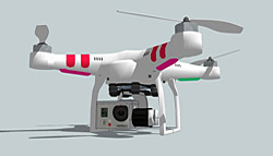 3D Warehouse DJI Phantom-1410