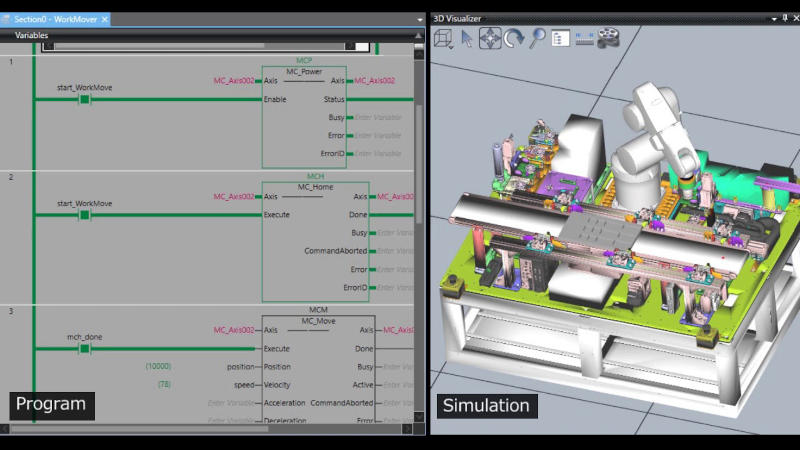 Omron Sysmac Studio 3D Simulation-2045