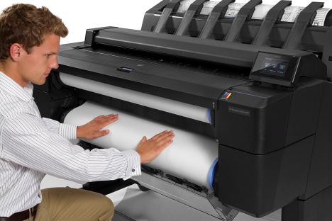 HP Designjet T2500 front loading usability